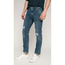Jack & Jones - Jeansy Tim. Czarne jeansy męskie relaxed fit marki Jack & Jones, l, z bawełny, z okrągłym kołnierzem. W wyprzedaży za 99,90 zł.