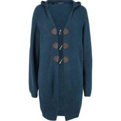 Długi sweter rozpinany z kapturem bonprix ciemnoniebieski. Szare kardigany damskie marki Mohito, l. Za 129,99 zł.