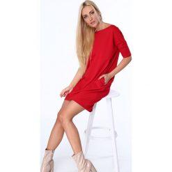 Sukienki: Czerwona Sukienka Bombka 3380