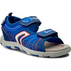 Sandały GEOX - J Sand.Pianeta A J7264A 011FE C0685 M Królewsky/Pomarańcz. Niebieskie sandały męskie skórzane marki Geox. W wyprzedaży za 179,00 zł.