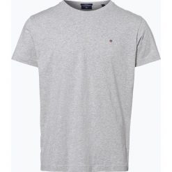 Gant - T-shirt męski, szary. Szare t-shirty męskie marki GANT, m, z haftami, z bawełny. Za 129,95 zł.