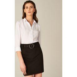 Spódniczki: Ołówkowa spódnica z ozdobną klamrą – Czarny