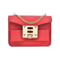 Torebka w kolorze czerwonym - (S)19,5 x (W)14 x (G)6,5 cm. Czerwone torebki klasyczne damskie Bestsellers bags, w paski, z materiału. W wyprzedaży za 199,95 zł.