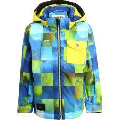 Quiksilver LITTLE Kurtka snowboardowa blue sulphur icey check. Niebieskie kurtki damskie narciarskie marki Quiksilver, l. W wyprzedaży za 377,10 zł.
