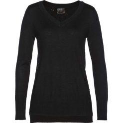 Swetry klasyczne damskie: Sweter z kaszmirem bonprix czarny