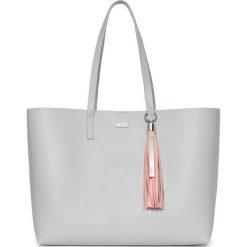 PROMOCJA. Różowe shopper bag damskie marki W.KRUK, w paski, z bawełny. W wyprzedaży za 709,00 zł.