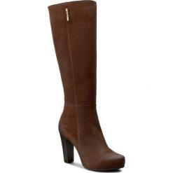 Kozaki GINO ROSSI - Moska DKF452-D37-5700-3300-F 88. Czarne buty zimowe damskie marki Gino Rossi, z materiału, na obcasie. W wyprzedaży za 469,00 zł.