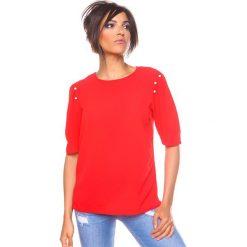 """Bluzki asymetryczne: Koszulka """"Adam"""" w kolorze czerwonym"""