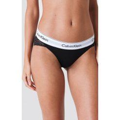 Stroje kąpielowe damskie: Calvin Klein Dół bikini z koronką – Black