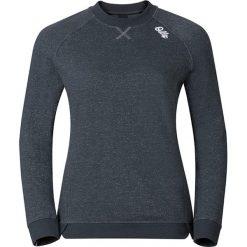 """Koszulka """"Spot-On"""" w kolorze antracytowym do biegania. Szare bluzki damskie Odlo, xs, z materiału, z okrągłym kołnierzem, z długim rękawem. W wyprzedaży za 217,95 zł."""