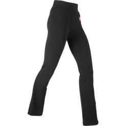 Legginsy sportowe, długie LEVEL1 bonprix czarny. Czarne legginsy damskie do fitnessu bonprix. Za 79,99 zł.