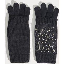 Rękawiczki - Czarny. Czarne rękawiczki damskie Sinsay. Za 19,99 zł.