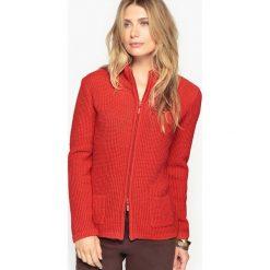 Golfy damskie: Sweter zapinany na zamek błyskawiczny 10% wełna, 5% alpaga