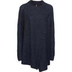 Swetry damskie: Sweter rozpinany bonprix ciemnoniebieski