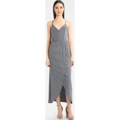 Długie sukienki: Superdry STRIPE WRAP DRESS Długa sukienka marina navy/white