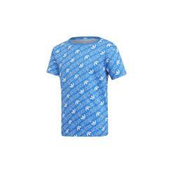 T-shirty z krótkim rękawem Dziecko  adidas  Koszulka Trefoil Monogram. Niebieskie bluzki dziewczęce z krótkim rękawem marki Adidas. Za 99,95 zł.