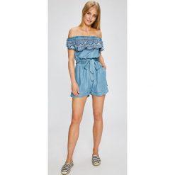 Pepe Jeans - Kombinezon Dimasa. Szare kombinezony damskie marki Pepe Jeans, m, z jeansu, bez ramiączek. W wyprzedaży za 279,90 zł.