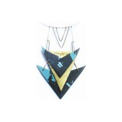 Naszyjniki damskie: Geometryczny naszyjnik z porcelany i metalu