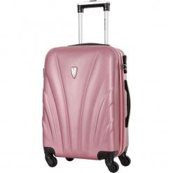 Walizka w kolorze jasnoróżowym - 99 l. Czerwone walizki Platinium, z materiału. W wyprzedaży za 299,95 zł.