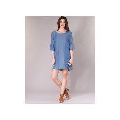 Sukienki krótkie Betty London  IBERNIA. Niebieskie sukienki mini marki Betty London, l, z krótkim rękawem. Za 159,20 zł.