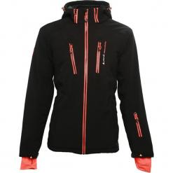Kurtka narciarska w kolorze czarnym. Czarne kurtki narciarskie męskie marki Peak Mountain, m, z materiału. W wyprzedaży za 255,95 zł.