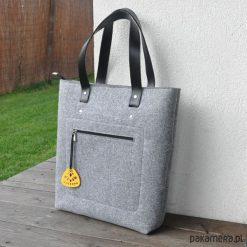 Top Glam mod.2 - torebka filcowa - szara. Szare torebki klasyczne damskie Pakamera, duże. Za 150,00 zł.