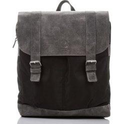 Szary Skórzany plecak PAOLO PERUZZI. Szare plecaki męskie marki Paolo Peruzzi, ze skóry. Za 219,00 zł.
