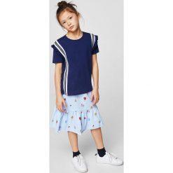 Mango Kids - Top dziecięcy Susi 110-164 cm. Różowe bluzki dziewczęce bawełniane marki Mayoral, z okrągłym kołnierzem. Za 49,90 zł.