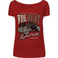 Volbeat Louder And Faster Koszulka damska czerwony. Czerwone bluzki z odkrytymi ramionami Volbeat, s, z nadrukiem, z dekoltem w łódkę. Za 99,90 zł.