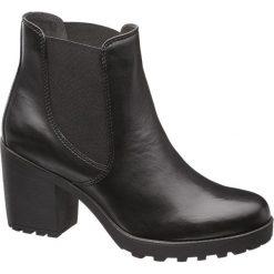 Botki damskie 5th Avenue czarne. Czarne botki damskie na obcasie marki 5th Avenue, na jesień, z materiału. Za 239,90 zł.