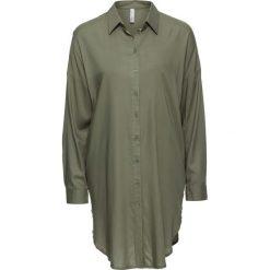 Długa  bluzka bonprix oliwkowy. Zielone bluzki longsleeves bonprix. Za 89,99 zł.