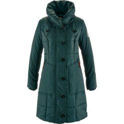 Płaszcz pikowany bonprix niebieskozielony. Niebieskie płaszcze damskie bonprix. Za 229,99 zł.