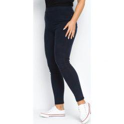 Spodnie damskie: Granatowe Legginsy Wearable