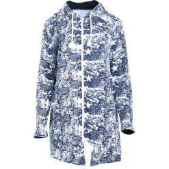Granatowo-Biała Bluza Find Out. Białe bluzy rozpinane damskie marki Born2be, l, z długim rękawem, długie. Za 69,99 zł.
