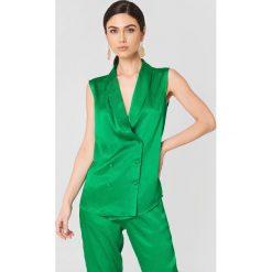 Rut&Circle Kamizelka Ginny - Green. Zielone kamizelki damskie marki Rut&Circle, z dzianiny, z okrągłym kołnierzem. Za 161,95 zł.