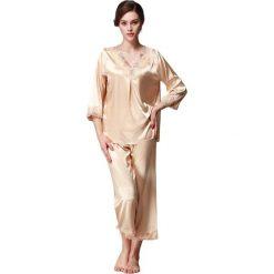 Piżamy damskie: 2-częściowa piżama w kolorze beżowym