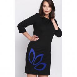 Czarno-Granatowa Sukienka Echo Arms. Czarne sukienki marki Born2be. Za 19,99 zł.