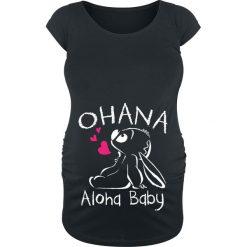 Lilo & Stitch Ohana Koszulka damska czarny. Czarne bluzki asymetryczne Lilo & Stitch, xl, z nadrukiem, z okrągłym kołnierzem. Za 99,90 zł.