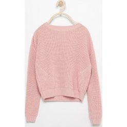 Swetry klasyczne damskie: Sweter o grubym splocie - Beżowy