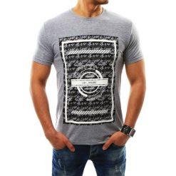 T-shirty męskie z nadrukiem: T-shirt męski z nadrukiem szary (rx2312)