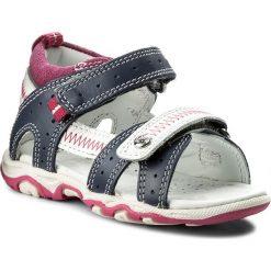 Sandały dziewczęce: Sandały BARTEK – T-11824/1NS Niebiesko Biało Różowy