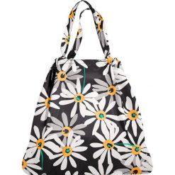 Shopper bag damskie: Torba w kolorze czarno-białym na zakupy – 64 x 48 x 13 cm