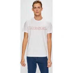 Diesel - T-shirt/polo UMLT.JAKE.0DARX. Szare koszulki polo Diesel, l, z nadrukiem, z dzianiny. Za 169,90 zł.