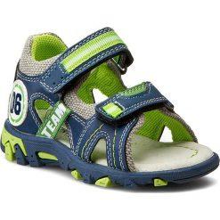 Sandały męskie skórzane: Sandały ACTION BOY – C15SS007-2 Niebieski