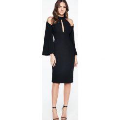 Sukienki hiszpanki: Bardot DRAPE SLEEVE Sukienka letnia black