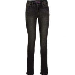 Dżinsy SKINNY bonprix czarny denim. Niebieskie jeansy damskie marki House, z jeansu. Za 89,99 zł.