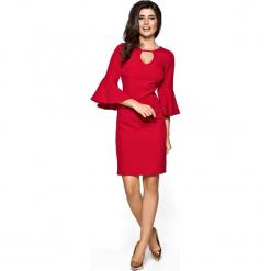 Czerwona Sukienka z Rozszerzanym Rękawem. Czarne sukienki na komunię marki Mohito, l, z dekoltem na plecach. Za 208,90 zł.