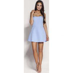 Niebieska Mini Sukienka z Odkrytymi Ramionami. Niebieskie sukienki mini marki Reserved, z odkrytymi ramionami. Za 238,90 zł.