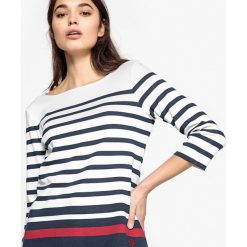 Kardigany damskie: Sweter w paski w marynarskim stylu z czystej bawełny