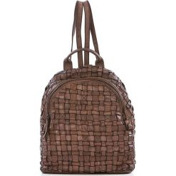 Plecaki damskie: Skórzany plecak w kolorze brązowym – 25 x 31 x 13 cm